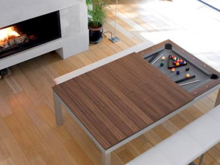 table de billard transformable en table de salon - Fusion table