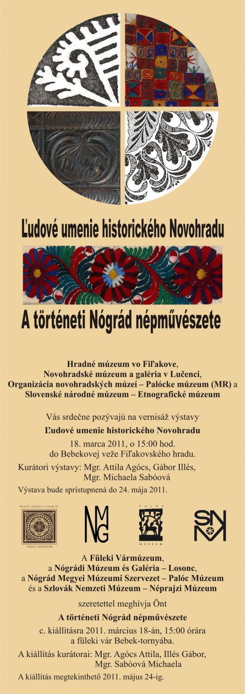udové umenie historického Novohradu - pozvánka