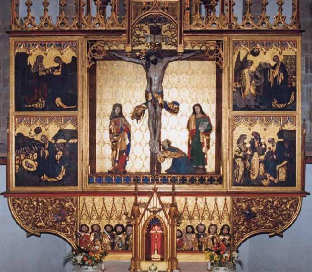 Hlavný oltár Baziliky minor sv. Kríža (www.fara-kezmarok.sk)