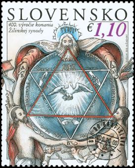 Známka k 400. výročiu Žilinskej synody (www.pofis.sk)