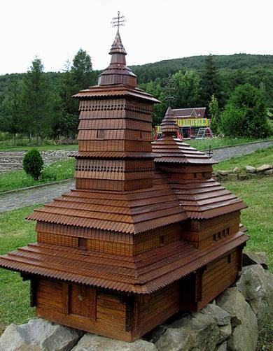 Ilustračné foto, maketa z obce Ulič