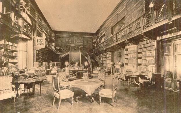 Apponyiovská bibliotéka, dobová fotografia (oponice.ocu.sk)