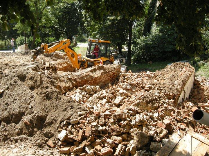 Búracie práce na moste, foto: Ján Stupka