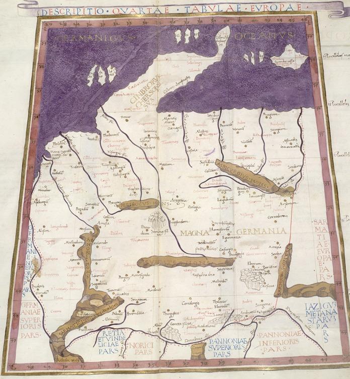 Ptolemaiova mapa MAGNA GERMANIA