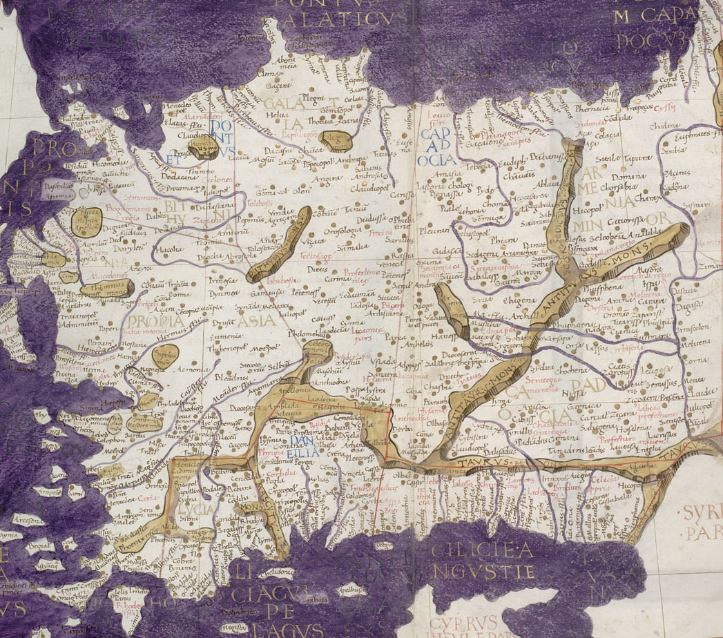 Ptolemaiova mapa Turecka