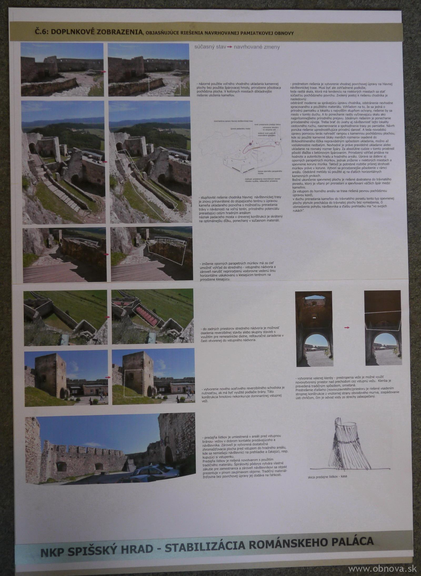 Spissky hrad - romansky palac - 2010 - arch