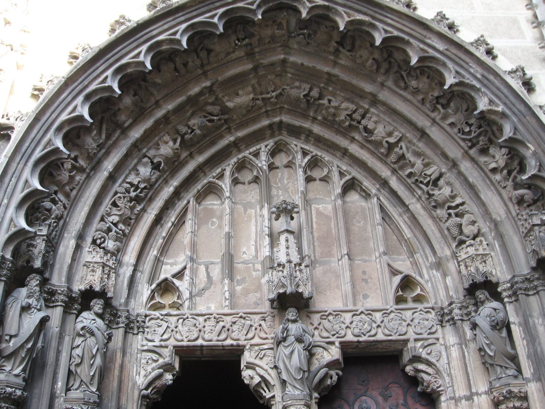 Gotický portál, Hronský Beňadik, foto Kamil Nováčik