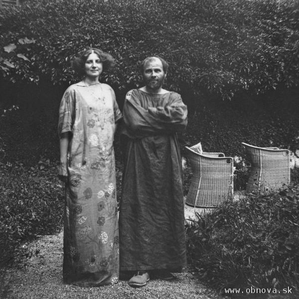 Gustav Klimt so životnou partnerkou Emilie Flöge © Imagno/Austrian Archives