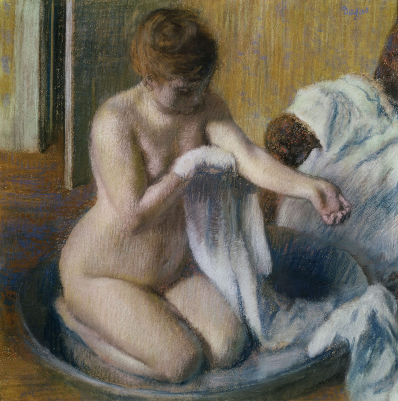 Edgar Degas: Žena vo vani, okolo 1833 Tate, Bequeathed by Mrs. A.F. Kessler 1983