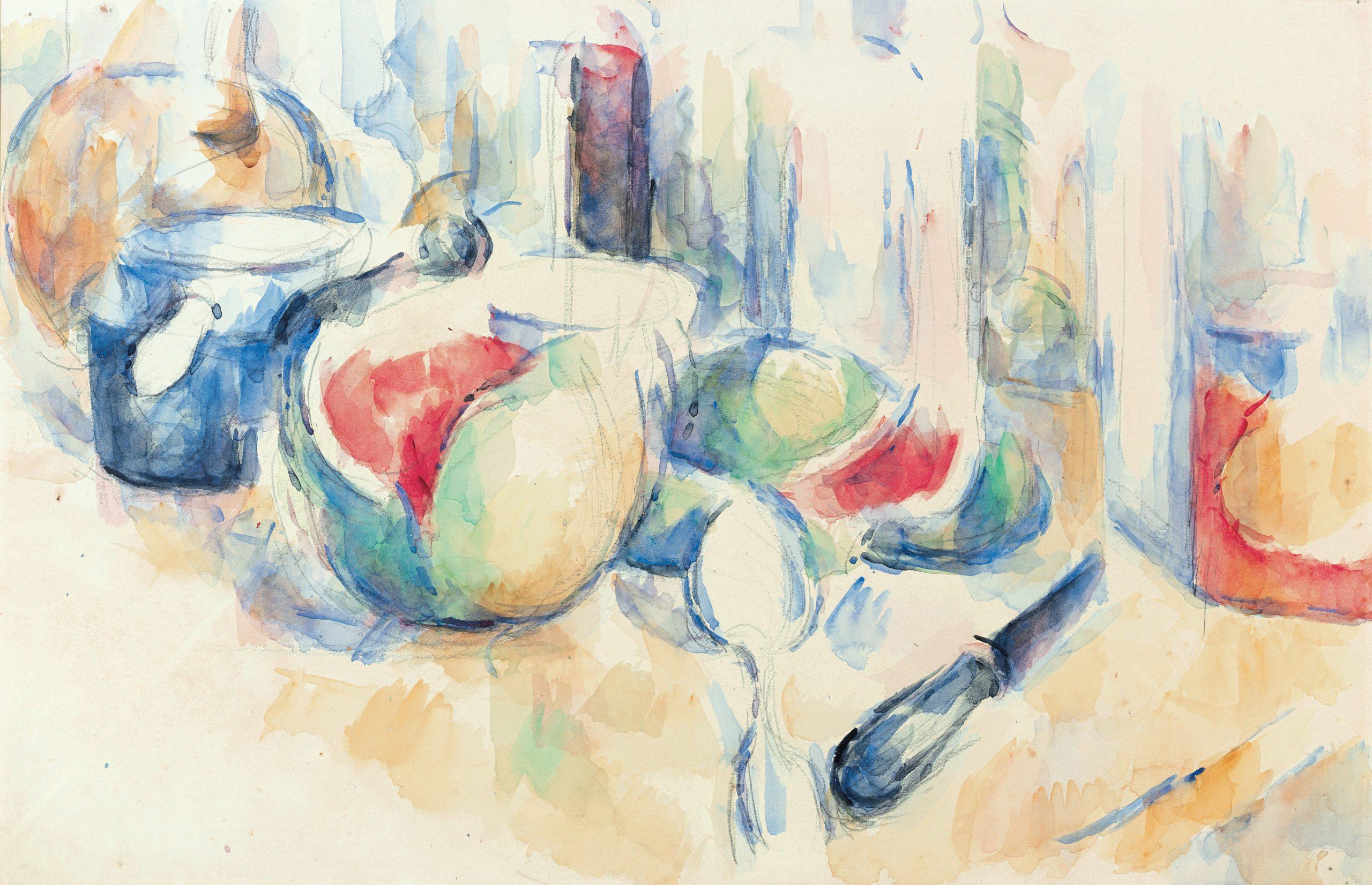 Paul Cézanne: Zátišie s nakrojenými melónmi © Zbierka Triton Foundation, Holands