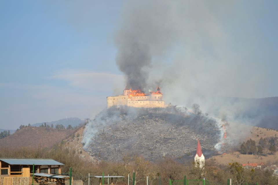 Požiar - Hrad Krásna Hôrka, zdroj: net