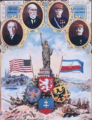 Plagát pri príležitosti vzniku ČSR, zdroj: net