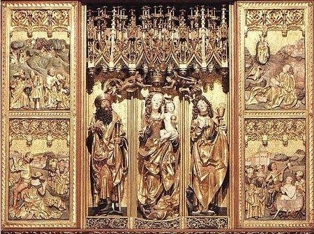 Hlavný oltár Majstra Pavla v kostole svätého Jakuba v Levoči. foto: wiki