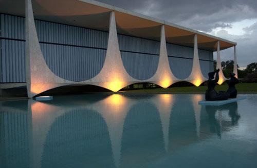 Oscar Niemeyer, Palácio da Alvorada, Brasília, prezidentský palác, zdroj:net