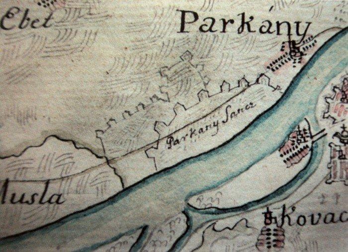 Parkány, dnešné Štúrovo a jeho zaniknutá pevnosť