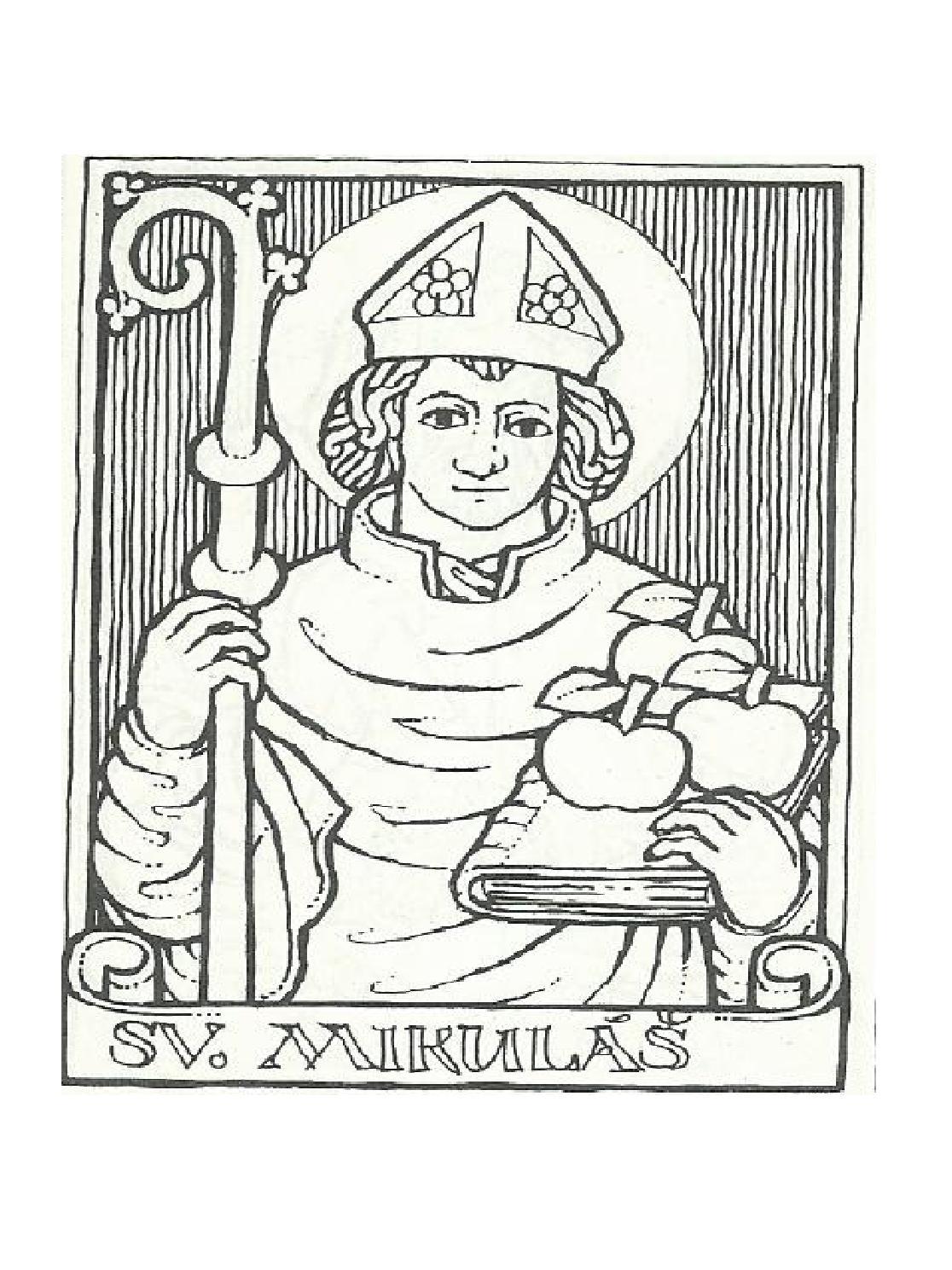 Svätý Mikuláš, zdroj: Ikonografie a atributy svatých (Praha 1991)