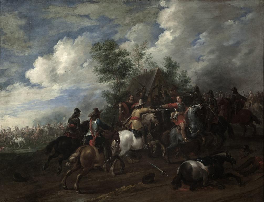 Pieter Meulener, Jazdecká bitka (1651)