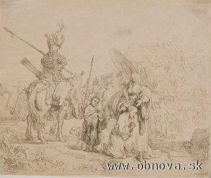 Rembrandt van Rijn, V orientálnom tábore (1641)