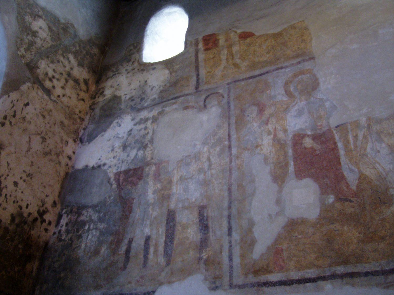 Fresky z 11. storočia v kostole sv. Juraja, foto: Katarína Palgutová